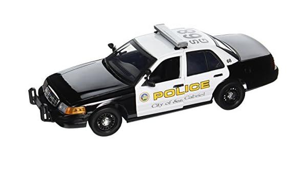 2001 Ford Crown Victoria San Gabriel Police Interceptor 1//18 Diecast Car Mode...