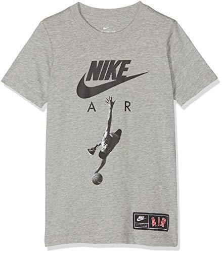 Dk Grey T-shirt (Nike Jungen B NSW Tee AIR Photo T-Shirt, dk Grey Heather/Black, XL)