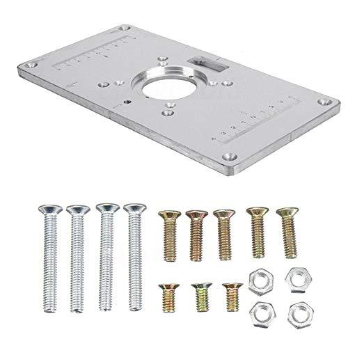 AimdonR - Placa fresadora aleación Aluminio 4 Tornillos