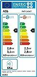 AEG PX71-265WT Eco mobiles Klimagerät (spiralförmiger Luftstrom, App-Steuerung, Fernbedienung, Inkl. Fenster-Kit, Kühlfunktion, Heizfunktion, Ventilator, Entfeuchtungsfunktion, Automatik) weiß/silber - 2