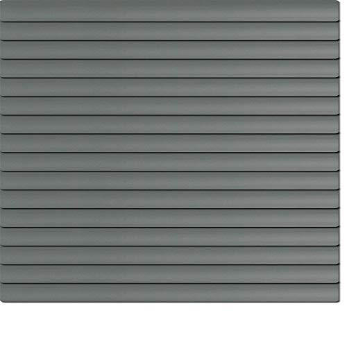 Dekologi Láminas de Aluminio 185x 100cm (Ancho x Altura)-Láminas Color 1709eisengrau//Medida Aluminio Veneciana-Estor Plisado