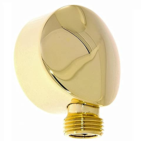 Wall Connection Elbow Wall Connector/for Hose/Brass with a Gold/Gold Finish