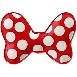 Jerry Leigh Disney Minnie Mouse Plateau à bijoux en forme de nœud Motif à pois