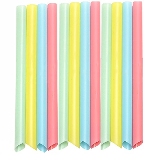 YOUBETTER 100Pcs Mixed Color Large Drinking Straws For Bubble Tea Smoothie Milkshake Party