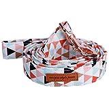 Hundehalsband und Leine Set mit Fliege weich und Baumwolle Stoff Kragen Rose Gold Metall Schnalle Verstellbare Größe Haustier Zubehör Leash L