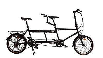 Ecosmo 20TF01BL City Tandem Fahrrad 7 Gänge 20 Zoll (51 cm) zusammenklappbar
