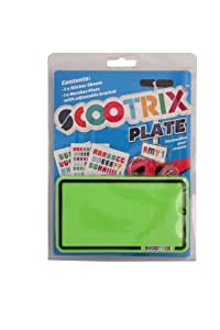 SCOOTRIX NEON GREEN NUMBER PLATE
