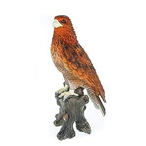 Tierfiguren Adler auf Baumstamm Gartenfigur 42 cm Figur Skulptur Garten Raubvogel