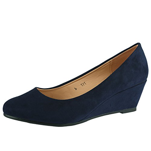 bypublicdemand-wendy-womens-low-wedge-heel-slip-on-smart-court-shoes-5-uk-38-eu-navy-blue-faux-suede