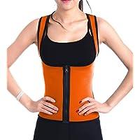 DODOING Damen Zipper Sport Waist Cincher Training Sport Korsage Korsett Corsage Schwitzen Sauna Neopren Weste Tank Top für Gewichtsverlust