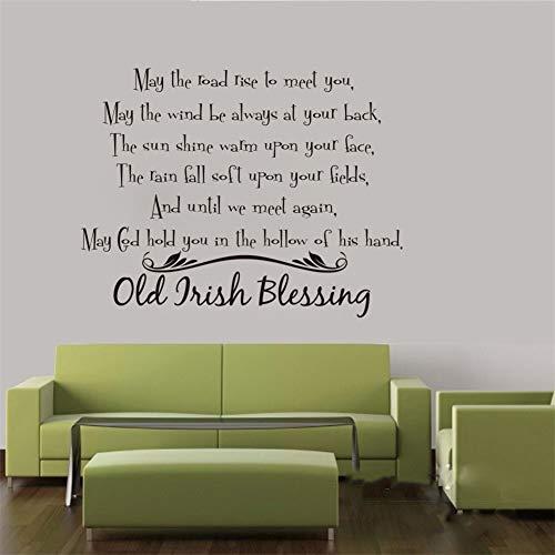 Wandtattoo Schlafzimmer Irischer Segen Wohnzimmer Schlafzimmer Old Irish Segen sagen Inspiration Motivation Zitat Dekor