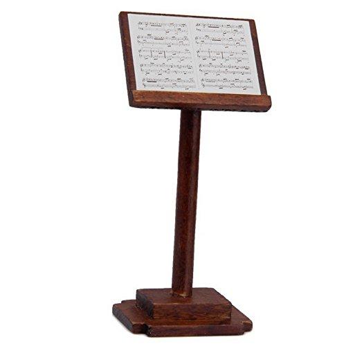 SUOSI Dollhouse M¨²sica soporte de madera con una partitura musical