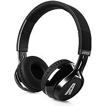 Auriculares Bluetooth, AGPtek Casco Inalámbrico de Diadema Manos Libres Over-oreja Wireless Headphone con Puerto Micro USB Cabeza Plegable Deportivo para Móvil Mp3 Iphone Ipad Con Jack de 3.5mm(Negro)