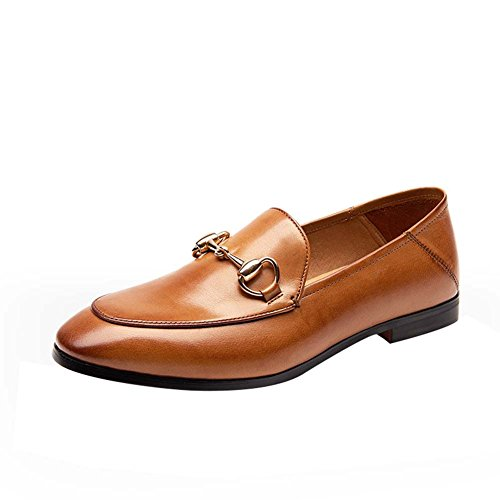 WTUS Femme Casual Tout-match Chaussures De Ville Mocassin Femme marron1
