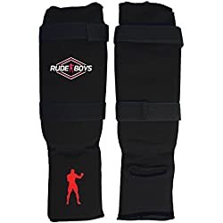 Rude Boys Rb Zeitoun Junior Espinillera, Unisex Adulto, Negro, XS