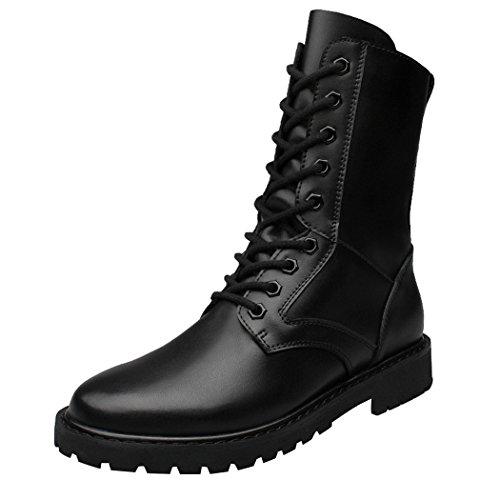 WALK-LEADER , Herren Stiefel, schwarz - schwarz - Größe: 42 (Vintage-justin-cowboy-stiefel)