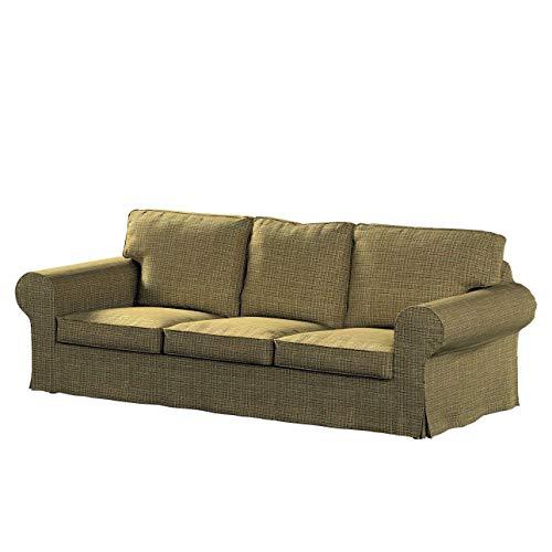 Dekoria Ektorp 3-Sitzer Sofabezug Nicht ausklappbar Sofahusse passend für IKEA Modell Ektorp erbsengrün
