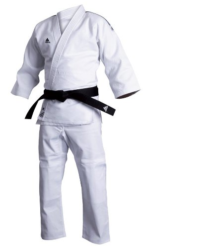Adidas uniforme da judo training, bianco (brilliant white), 130 cm