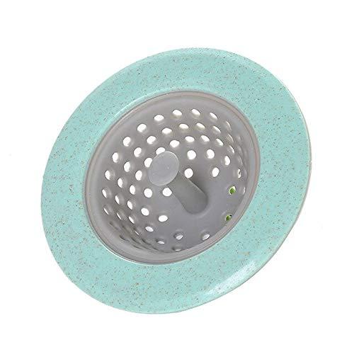 FIOLTY Art und Weise neu TPR Küche Badezimmer Haus- Wasch- oder Spülbecken Sieb Spüle Seiher Haar Drains Cover: Grün (Spüle Cover Drain)
