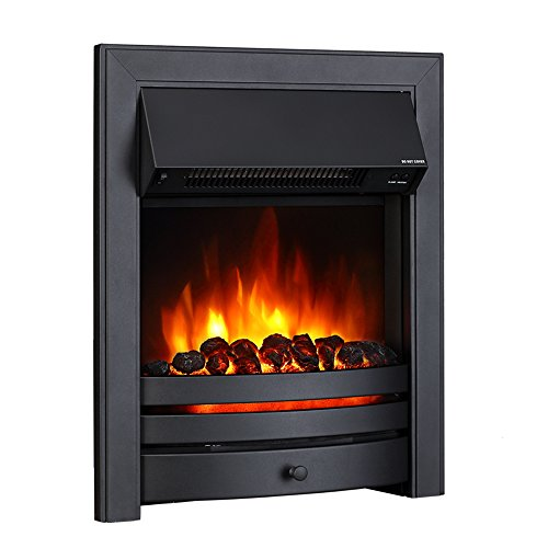 41rhmzPEMYL. SS500  - Endeavour Fires Roxby Inset Electric Fire, Black Trim and Fret, 220/240Vac 1&2kW, 7 day Programmable Remote control