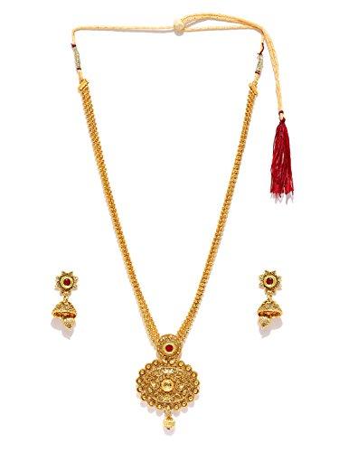 Zaveri Pearls Long Designer Necklace Set For Women - ZPFK4414