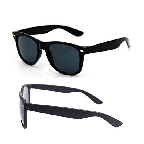 hotrodspirit - lunette de soleil style année 50 verre noir classique homme