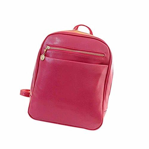 Borsa a tracolla, lo zaino , feiXIANG 2017 Ragazze Cuoio artificiale borse scuola di pelle zaino viaggio borsa donna spalla zaino , 24cm (L) * 30 (H) * 8cm (W) (Blu chiaro) caldo rosa