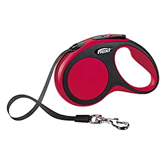 flexi New Comfort Retractable Lead Small Tape 5m, Red 8