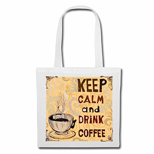Tasche Umhängetasche KEEP CALM AND DRINK COFFEE KAFFEE LATTE CAPPUCCINO ESPRESSO AMERICANO...