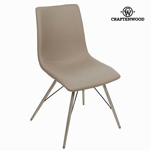 Taupe kunstleder-stuhl by Craften Wood