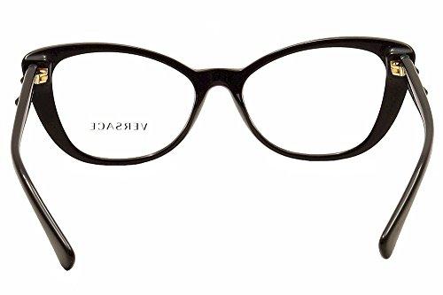Versace Montures de lunettes 3222B Pour Femme Tortoise, 52mm GB1: Black