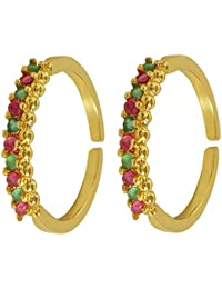 Muchmore Attractive Purple Alloy Stone Toe Ring For Women