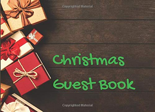 Christmas Guest Book: Let us remember that the Christmas heart is a giving heart, a wide open heart that thinks of others first