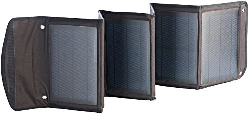 revolt Faltbares Ladegerät Solarpanel mit 2x USB-Port, 30 W