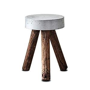 Beistelltisch oder Kl. Couchtisch aus Beton & Altholz   Hocker Tisch Wohnzimmer Urban Industriell Loft Rustikal Betontisch Betönmöbel