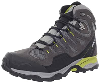 Salomon Men's Conquest GTX Backpacking Boot,Pewter/Autobahn/Dark Green,7.5 M US