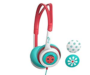 ZAGG Little Rockerz Teal, White Supraaural Headphones Headphones (Supraaural, Headphone, 85dB, 3cm, Wired, 1.2m)