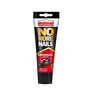 UniBond No More Nails Original, Heavy-Duty Mounting Adhesive, Strong Glue for Wood, Ceramic, Metal & More, White instant Grab Adhesive, 1 x 234g Tube