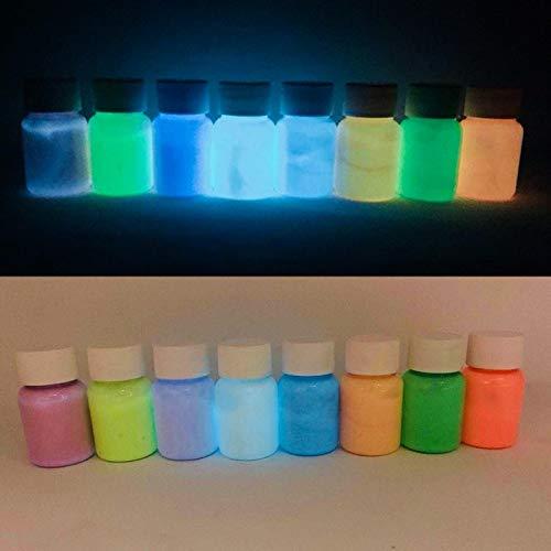 Polyment Profi Premium Leuchtfarbe - Sehr hell im Dunkeln nachleuchtende Farbe. Selbstleuchtendes UV Glühfarbe, Nachleuchtfarbe, selbstleuchtende Wandfarbe,Glow in the Dark Perlweiß 50ml