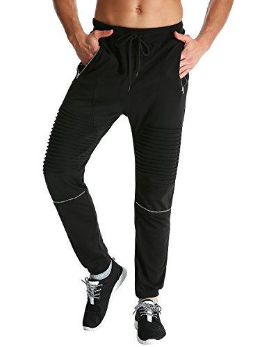 MODCHOK Herren Hosen Jogginghosen Sweatpants Freizeithosen Sporthose Trainninghose Jogger Schwarz 1