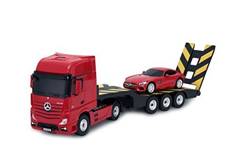 Ricco 74920 - Camión remolque con mando a distancia para Mercedes-Benz Actros (escala 1:26), color rojo
