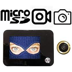 Sottocchio Judas de porte numérique, avec fonction d'enregistrement vidéo et prise de photo–Caméra avec angle à 120° et zoom