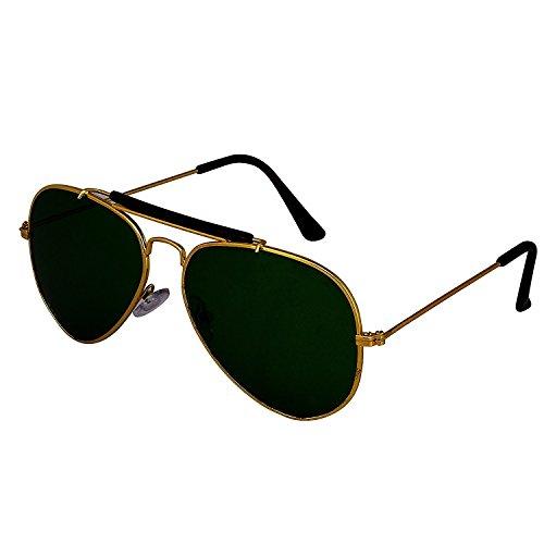 Silver Kartz Golden G-15 Double Bar Aviator Sunglasses (wy162)