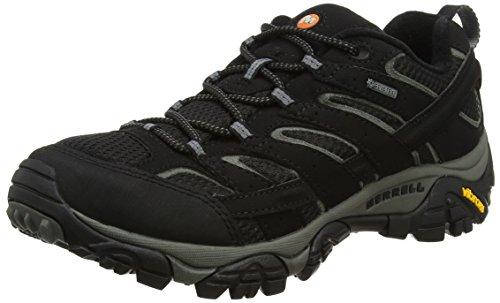 Merrell Herren Trekking- & Wanderschuhe Trekking- & Wanderhalbschuhe Moab 2 Gore-Tex, Schwarz (Black), 44.5 EU (Wasserdichte Schuhe Herren Merrell)