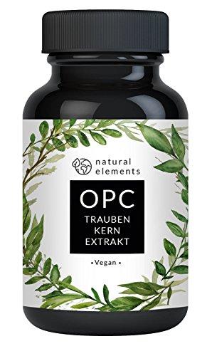 OPC Traubenkernextrakt - 180 vegane Kapseln im 6 Monatsvorrat - 280mg echtes OPC pro Kapsel - Frei von Magnesiumstearat, Ascorbinsäure - Hochdosiert und hergestellt in Deutschland