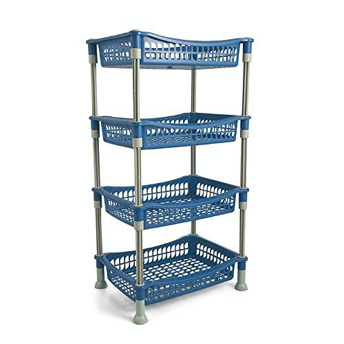 Galileo Casa Küchenwagen rechteckig 4Ablagen, blau