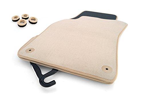 Fußmatten VW Touareg (7L/alle) Original Qualität Velours Autoteppich 4.teilig - beige
