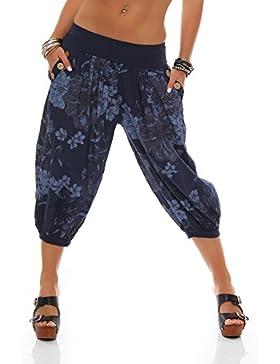 ZARMEXX Pantalones Capri de Pantalones Harem de 3/4 Pantalones de verano Pantalones de verano pantalón bombacho...