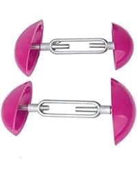 2pcs Footful Mini-camillas Conformadores Ajustables Para Hombre Para Mujer De La Ayuda Zapatos De Color Rosa