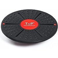 TNP Accessories® Balance Wobble Board 40cm Plastic Non Slip Surface Training Rehabilitation Fitness Exercise Yoga Pilates Gym Physiotherapy